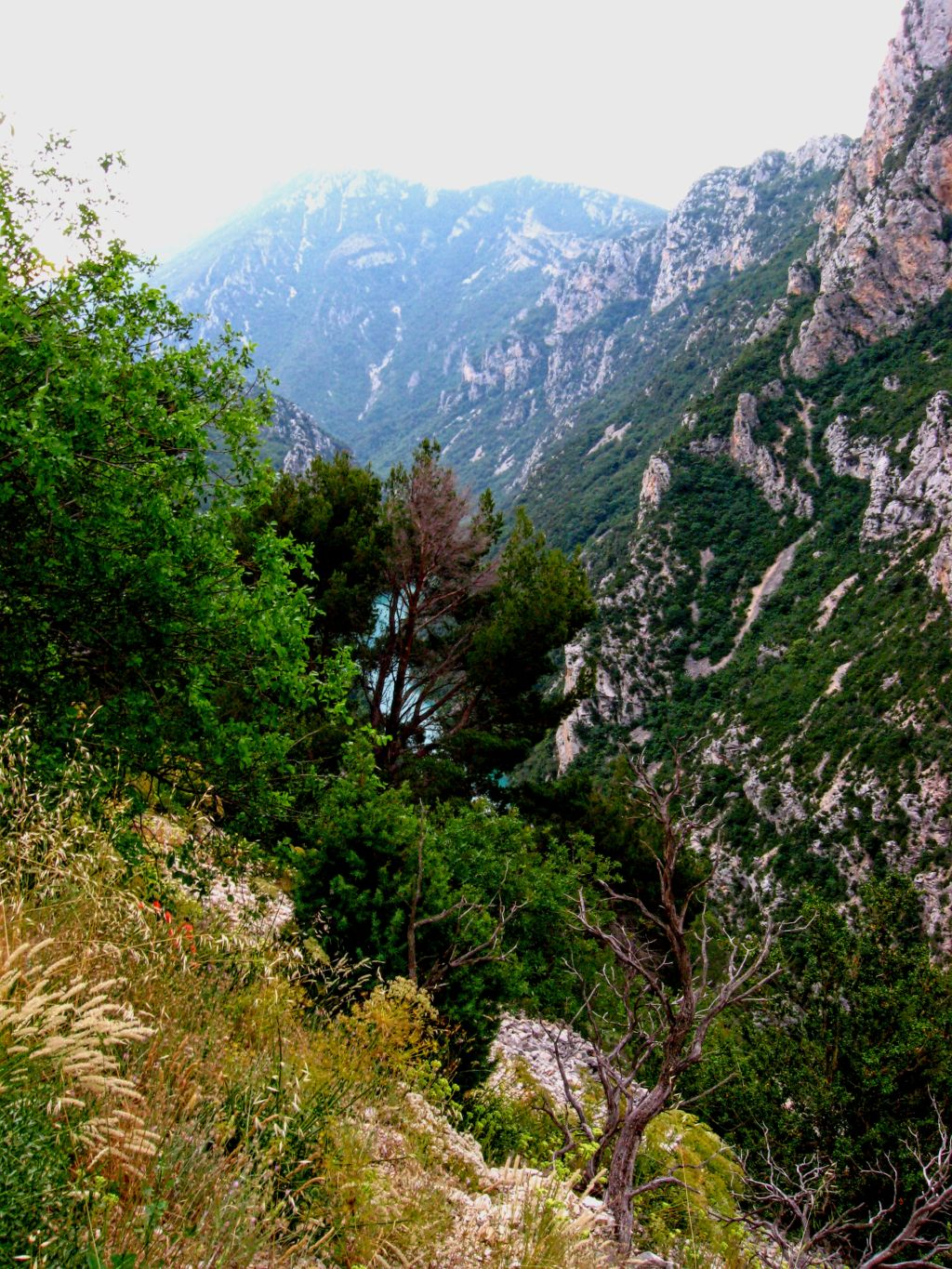 Sentier Martel, Martel Trail, Gorges du Verdon, France, Verdon River, canyon, white rocks, hifh mountains