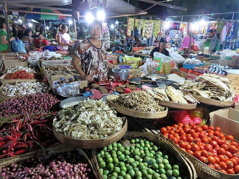 Local night market, North Bali, Indonesia, farmers' market, local produce