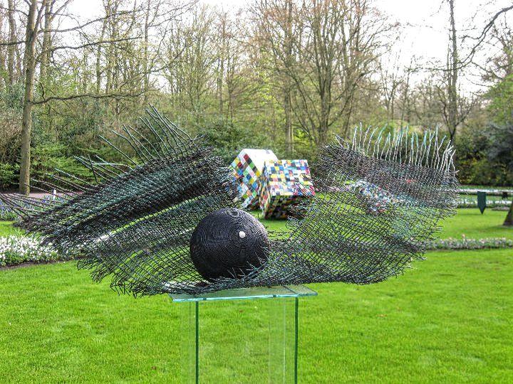 tulips, Keukenhof, Keukenhof gardens, Lisse, the Netherlands, art installations