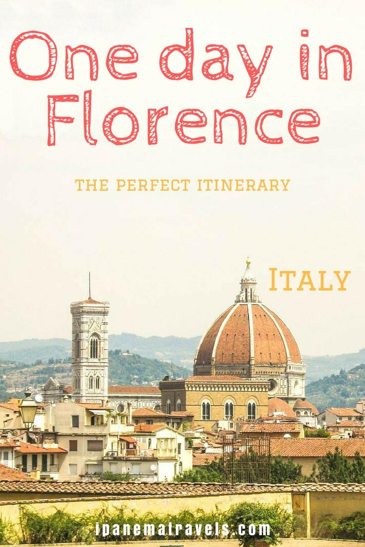 view of Florence in Italy, one-day itinerary in Florence