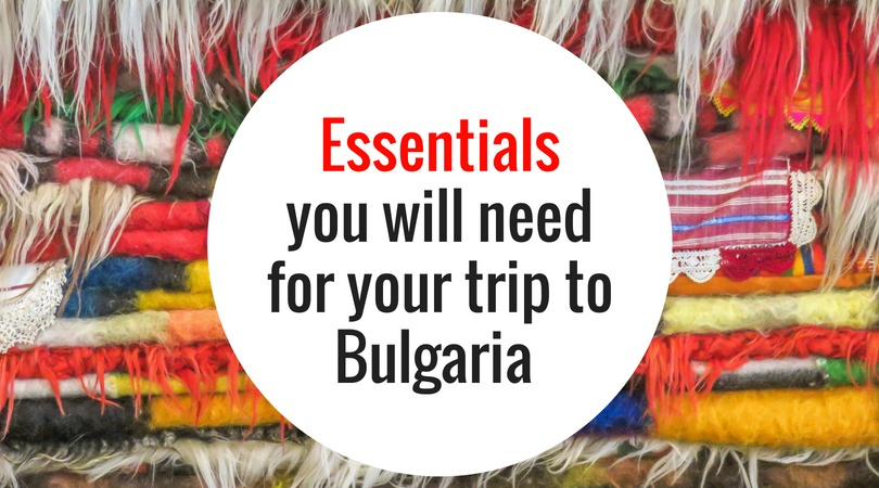 a pile of colourful rugs with a text on them: Essentials you will need for your trip to Bulgaria