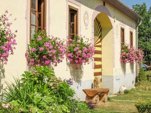 Holasovice UNESCO Czech Republic; historical village Holasovice with South Bohemian Folk Baroque