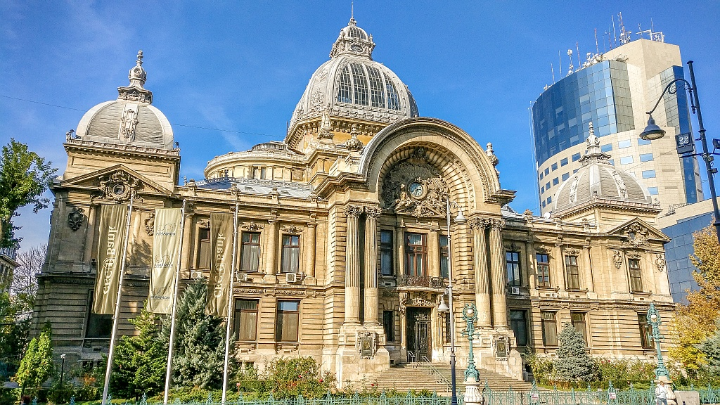 What to do in Bucharest on a weekend - a beautiful Art Nouveau building in Bucharest