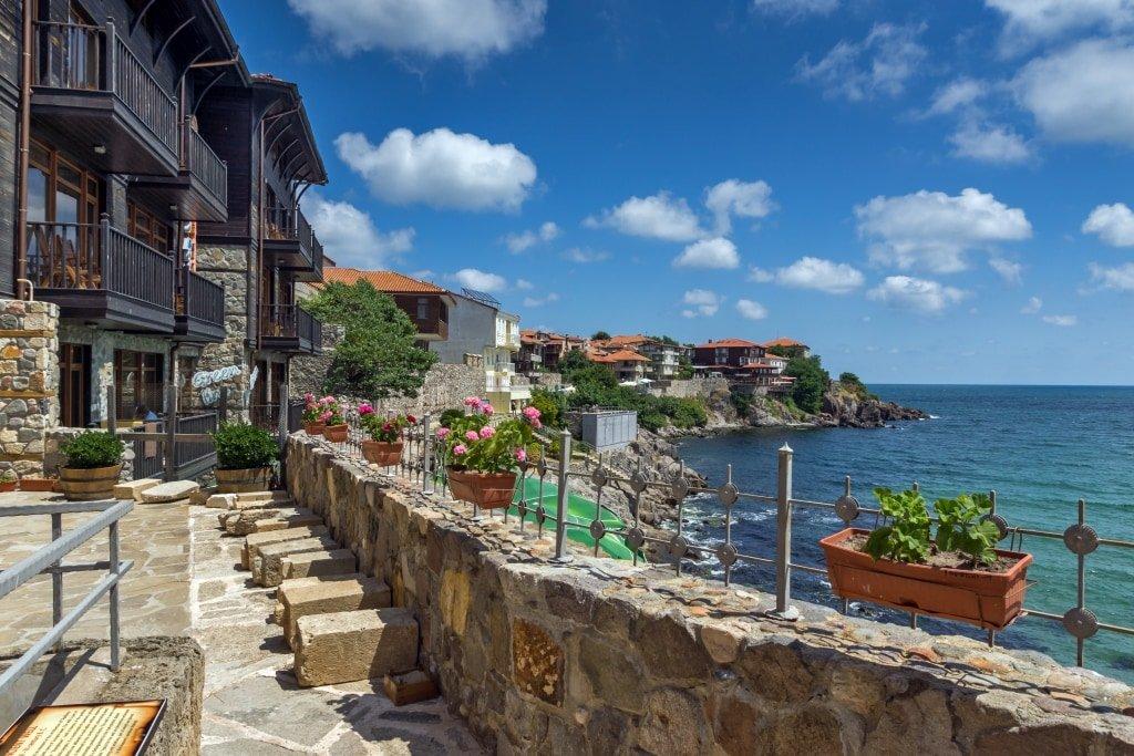 a seaside town on a rocky coast, Sozopol in Bulgaria